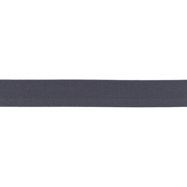 Elastiek soft - Donkergrijs - 25mm