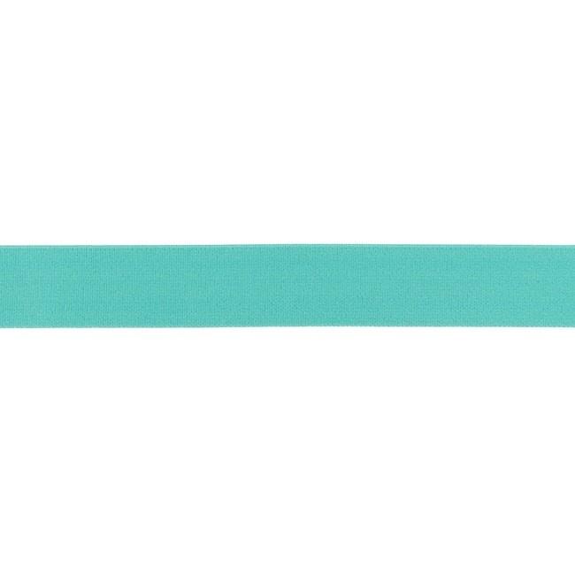 Elastiek soft - Turquoise - 25mm