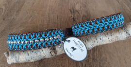 Paracord Halsband  Pip Turquoise / Chocolate Brown