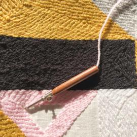 Punch needle met 3 verwisselbare naalden