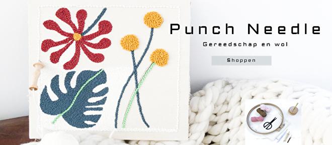 Okari Punch needle materialen