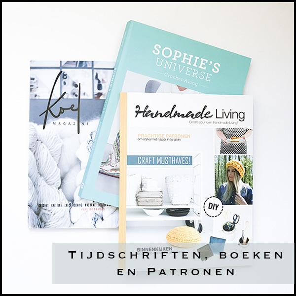 Tijdschrijften, boeken en patronen over handwerken