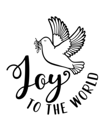 Raamsticker | JOY to the world
