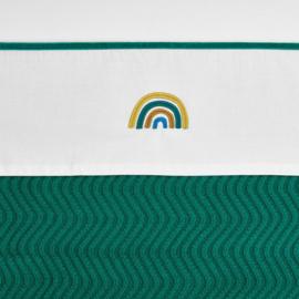 Meyco ledikant lakentje Rainbow | EMERALD GREEN