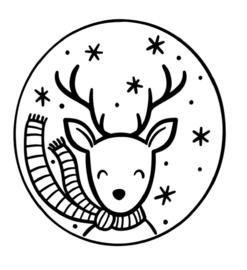 Raamsticker | Winter hertje