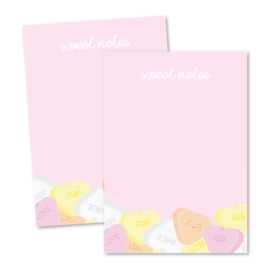 Notitieblok A6 | Sweet notes
