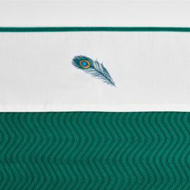 Meyco ledikant lakentje Peacock | EMERALD GREEN