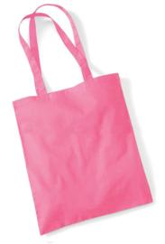 Roze katoenen tas met naam