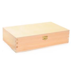 Gepersonaliseerde houten kleurdoos met naam