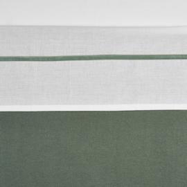 Meyco ledikant lakentje off white met velvet bies | FOREST GREEN