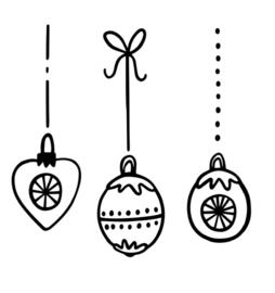 Raamsticker | Kerstballen #2