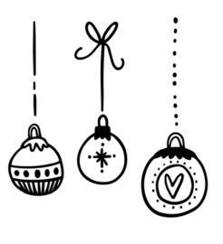 Raamsticker | Kerstballen #1