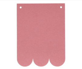 Naam slinger vlaggetjes | Roze Golf