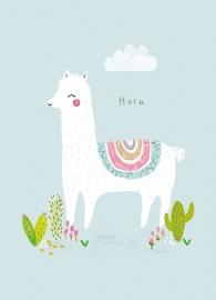 Poster A4 | Aless Baylis Alpaca Hola