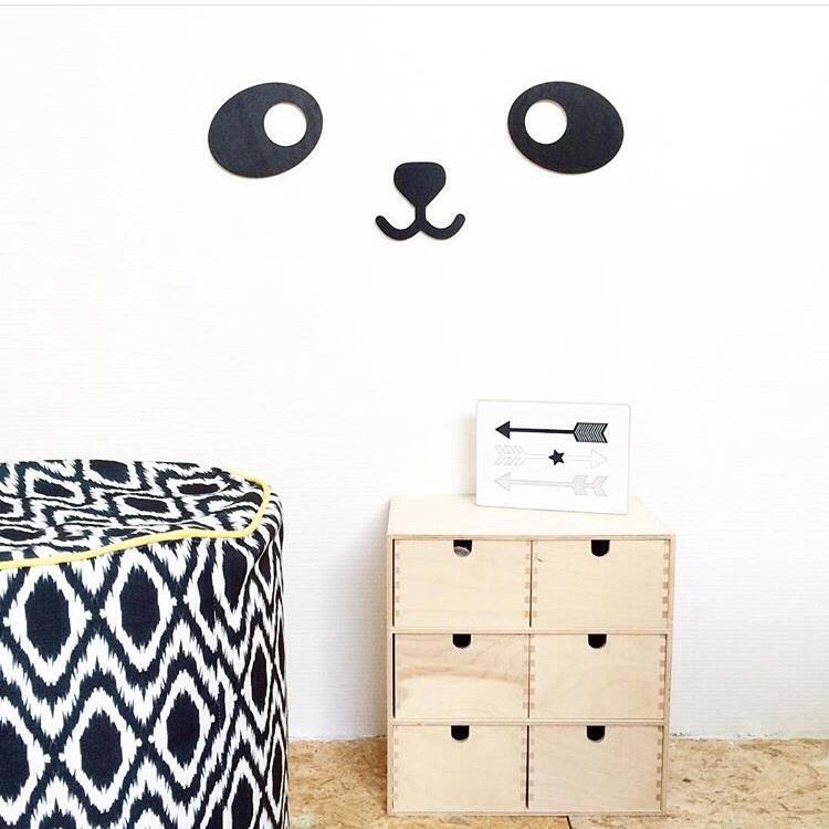 Pandabeer muur decoratie van hout