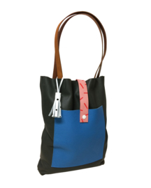 PONY MOTEL - BLACK & BLUE TOTE