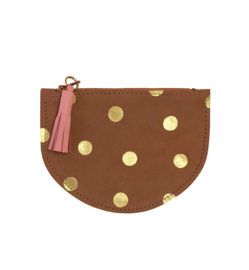 MOTEL LOBBY - DOUBLE POCKET WALLET - GOLD DOTS
