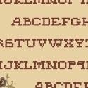 Pauline - ecru met alfabet donker oudroze