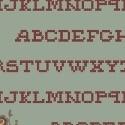 Pauline - lichtteal met alfabet