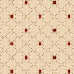 Berries & Blossoms _ Ecru ruitje met rood blokje