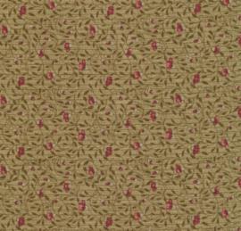 09 Lecien - groen met klein roze bloemetje