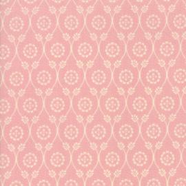 Chafarcani - Licht roze met ecru bloemetje en takjes