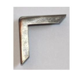 Hoekjes midi antiek zilver (4 stuks)