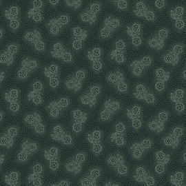 Esther's Heirloom Shirtings - Double Daisies Groen/blauw
