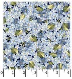 MW_Blauw met kleine bloemetjes