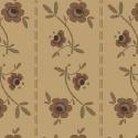 Pauline - beige met bloemetjes en streepje