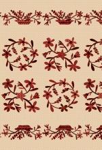 Berries & Blossoms _ Panel ecru met rood