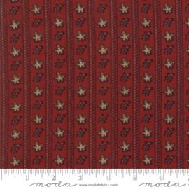 Harriet's - Randje met blaadjes in warm rood