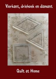 Vierkant, driehoek en six point diamant