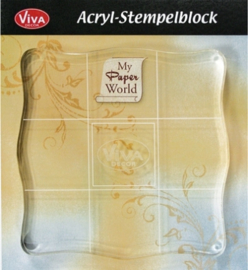 Acrylblok vierkant 10x10 cm