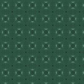 Esther's Heirloom Shirtings - Turkey Tracks, Teal