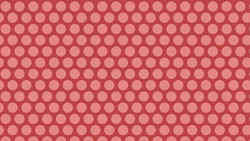 LSH_Rood/roze met lichtere grote dots