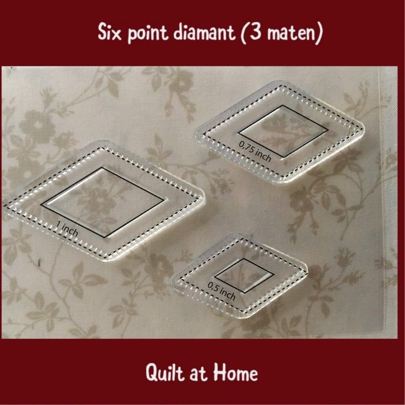 Six point diamant (wiebertje) - 3 maten