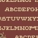 Pauline - donkeroudroze met alfabet
