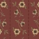 Pauline - donker oudroze met bloemetjes en streepje