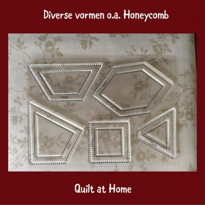 """Diverse stempels van 1"""" o.a. Honeycomb"""