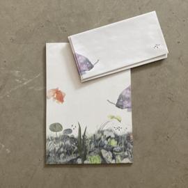 Briefpapier vis + enveloppen    Verkoopadviesprijs € 8,95