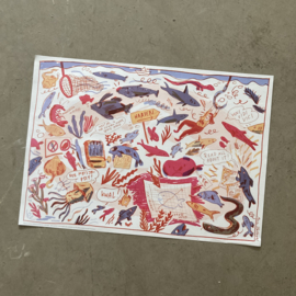 Poster vissenspreekwoorden | per 5 stuks