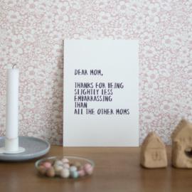 Dear Mom - Quoteprent
