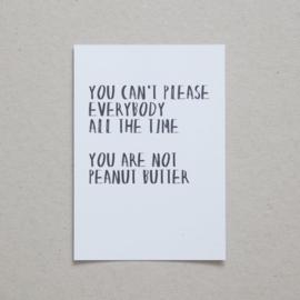Peanutbutter - Quoteprent