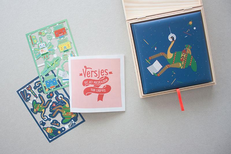 Poesiealbumset ruimtestruisvogel | verkoopprijs € 17,50