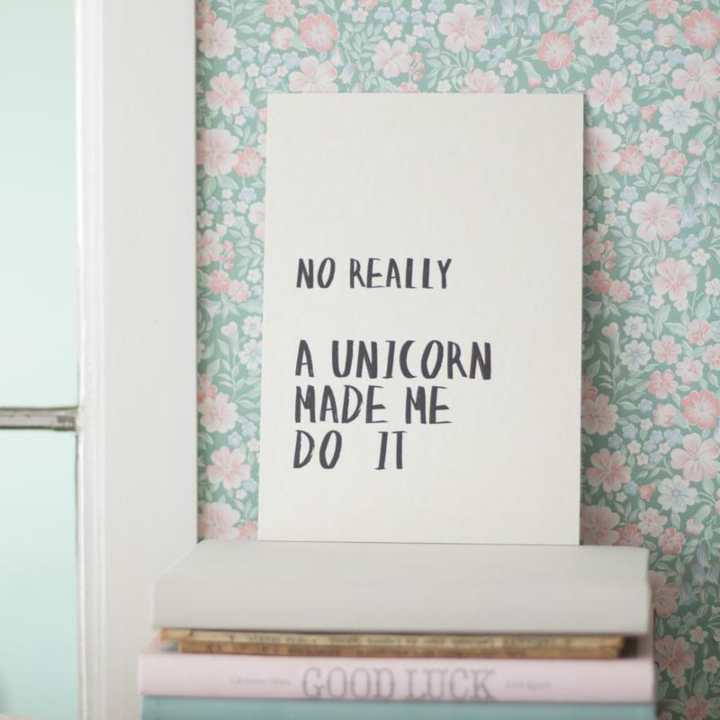 Unicorn - Quoteprent