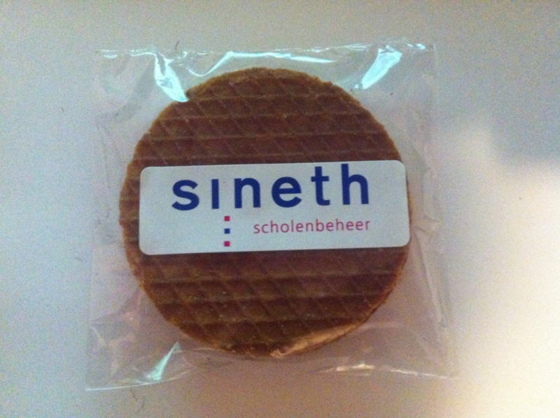 Stroopwafel met full color logo