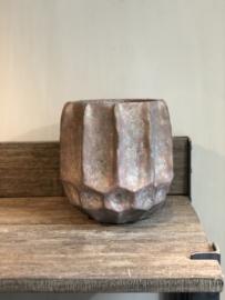 Bloempot brons-bruin 30 cm
