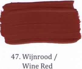 47 Wijnrood  - Matte lak OH Terpentinebasis