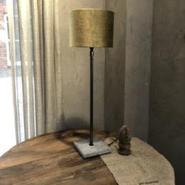Lampenkap goud/olijf velours - 20x20x15 cm